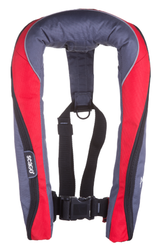 Seago Active 190N MANUAL Lifejacket Red Navy ISO 12402-2/3